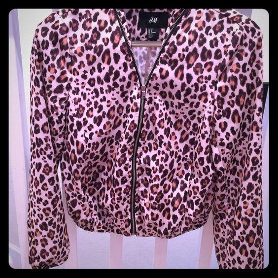 H&M Leopard Jacket H&M Leopard Jacket. Front Zipper. 100% Polyester. Size 6. H&M Jackets & Coats Blazers
