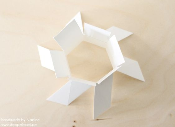Stampin Up Anleitung Tutorial Hexagon Box Box Verpackung Goodie 019