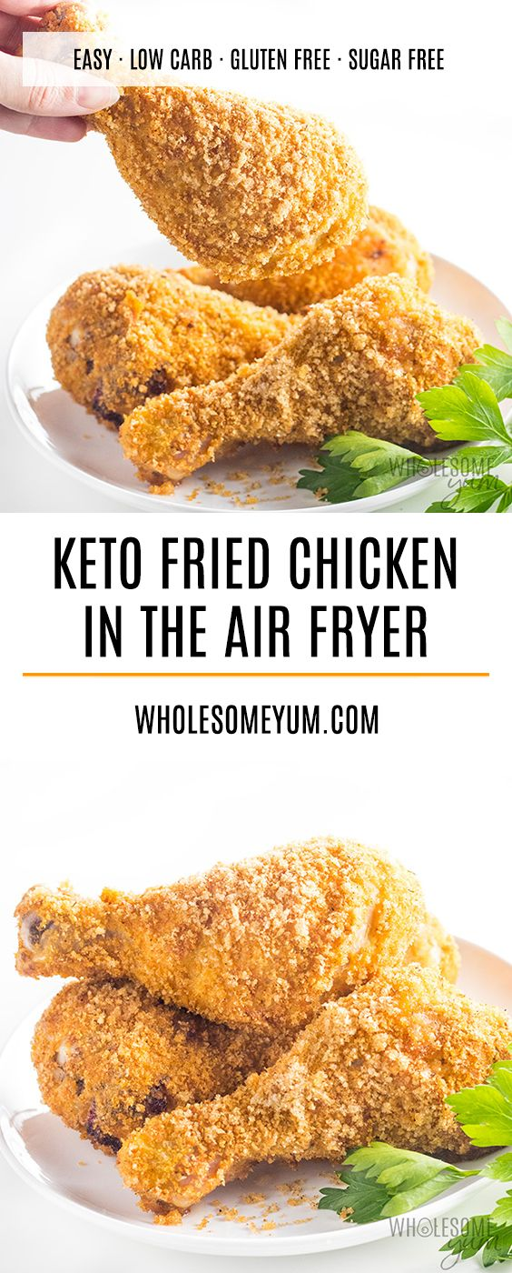 Air Fryer Keto Low Carb Fried Chicken Recipe Low Carb Fried