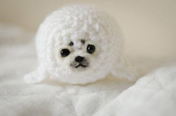 Cute Mystery Seal Pup Amigurumi Kawaii Seal Pup by artbySusieH, £10.00