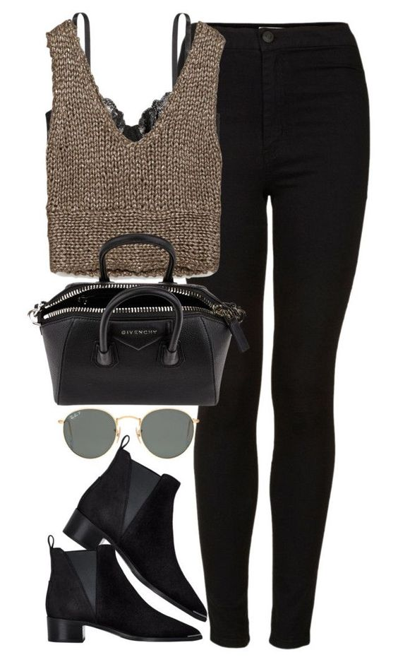"""Untitled #1839"" by roxy-camarena on Polyvore featuring Topshop, H&M, Zara, Givenchy, Ray-Ban and Acne Studios"