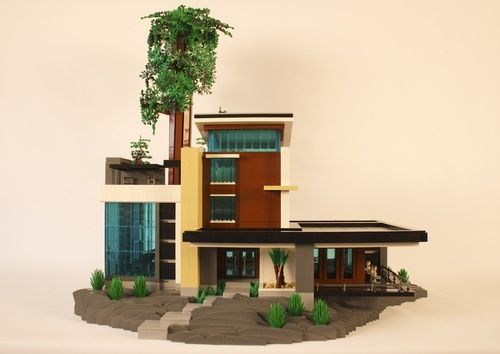 Lego moderne h user and haus on pinterest for Modernes lego haus