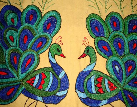 Embroidery Peacocks And Hand Embroidery On Pinterest