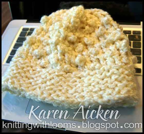 Knit Popcorn Stitch In The Round : loom knit popcorn stitch hat Loom knitting Pinterest Hats, Blog and Pop...