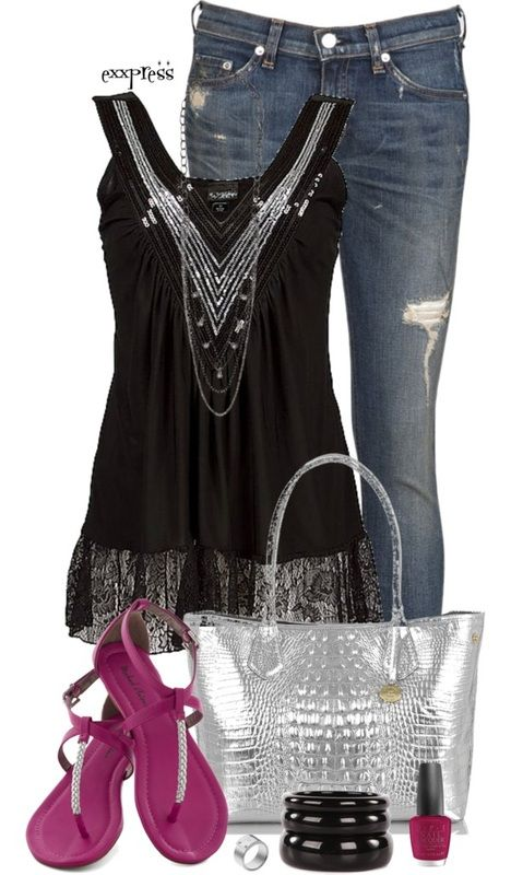 Simple Outfit: Spring Summer, Handbags Discount, Silver Pink, Michael Kors Purses, Summer Outfits, Casual Outfits, Simple Outfits, Kors Handbags