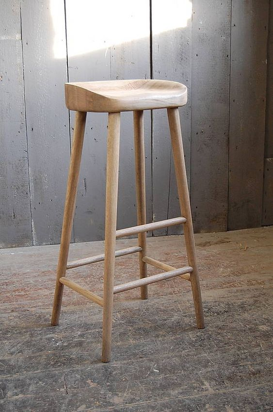 oak bar stool by eastburn country furniture | notonthehighstreet.com