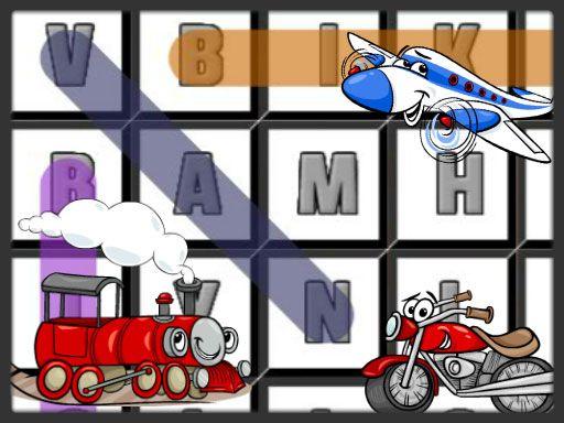لعبة البحث عن أسماء المركبات Word Search Transport Games Character Sonic The Hedgehog
