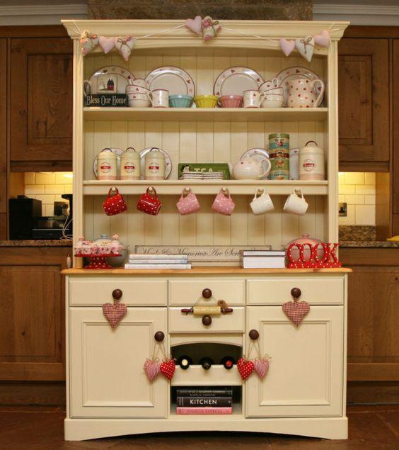 French Kitchen Dresser: Pine Welsh Dresser Shabby Chic Farrow & Ball French Marks