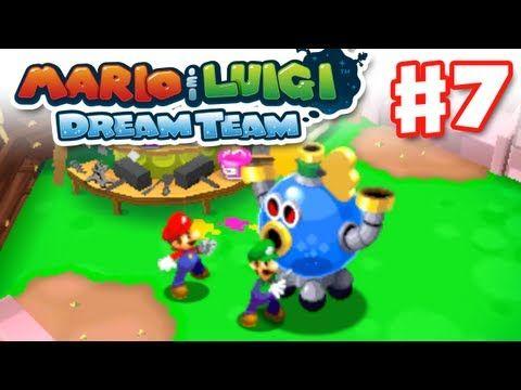 Mario Luigi Dream Team Gameplay Walkthrough Part 7 Grobot