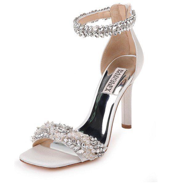 Ankle wrap sandals, Bridal shoes flats