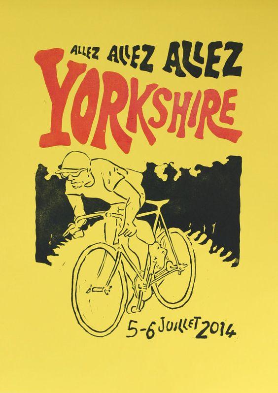 Yorkshire Grand Depart Tour de France inspired 'en by StudioSorgo