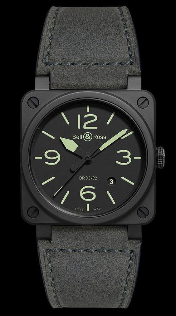 Timezone Industry News N E W M O D E L Bell Ross Br 03 92 Nightlum Bell Ross Best Watches For Men Stylish Watches Men