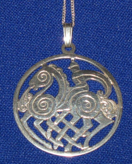 10 DAY AUCTION - Vintage Celtic SHETLAND Hallmarked Sterling Silver Odin's Horse Necklace Pendant