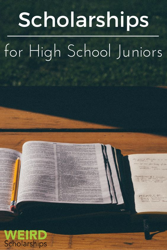 college scholarships for high school juniors It's never too early to start looking for (and applying for) college scholarships here is a list of college scholarships for high school sophomores.