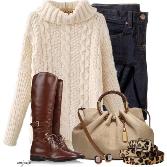 """Jeans/Sweater/Boots Contest"" by amybwebb on Polyvore"
