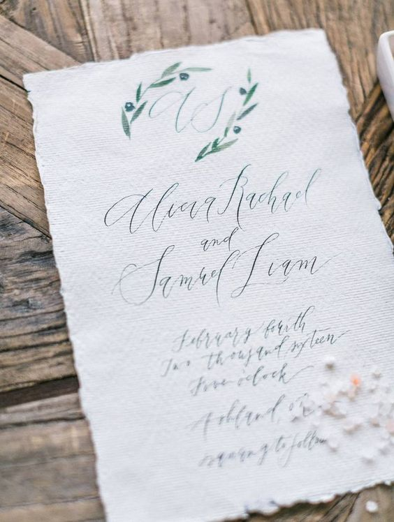 Apricot & Sage Green Bridal Inspiration via Magnolia Rouge - Kelsey Malie Calligraphy