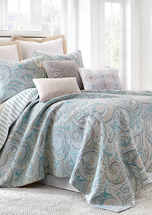 Levtex Wythe Spa Quilt Set With Images King Quilt Sets Quilt