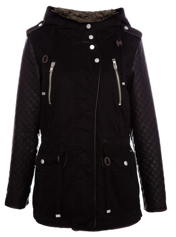 Canada Goose mens outlet official - SAFARI JACKET WITH FAKE LEATHER SLEEVES - COATS - WOMAN ...