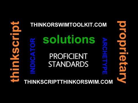 Videos Rxseries Free Thinkscript Solutions Thinkorswimtoolkit