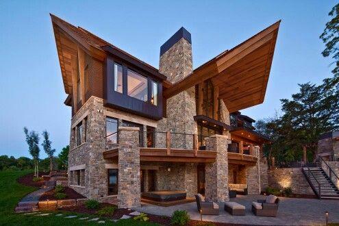 House Modern Log Cabin F U T U R E H O M E Pinterest - Modern log cabin homes