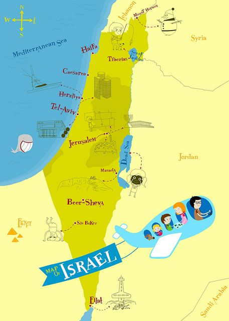 israel map english by hadargeva via flickr