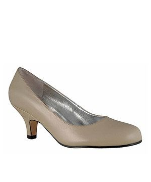 Love this Taupe Attack Pump by Ros Hommerson on #zulily! #zulilyfinds