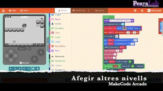 Makecode Arcade – Afegir nivells
