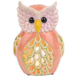 Ceramic Owl Candle Holder, 10 in.