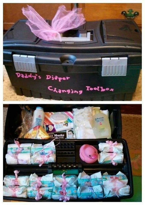 "Diaper changing tool box. Functional and ""manly"""