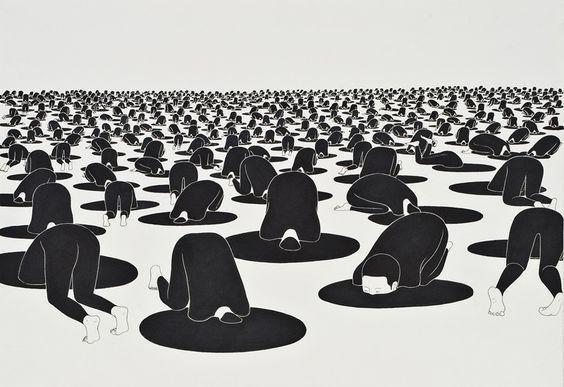 • 불면의 낮, Sleepless days - 김대현 Daehyun Kim - 무나씨 드로잉 Moonassi drawing: