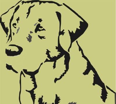 Labrador Retreiver Dog Head Stencil | Applique's ...