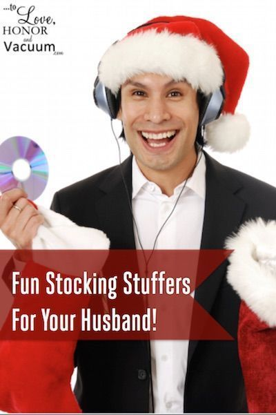 Fun Stocking Stuffers for Your Husband: Tons of ideas for handy things, fun things, smart things, healthy things, yummy things, and, of course, SEXY things! #marriage