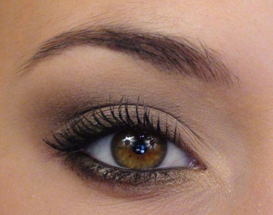 maquillage yeux noisettes soirée