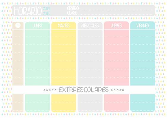 Back to school Free Printable Schedule + Nametags // Etiquetas para el nombre y horario imprimibles gratis para la Vuelta al cole