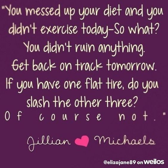 Don't become discouraged if you messed a day up. Get back on that wagon!! #encouragement #weilos: