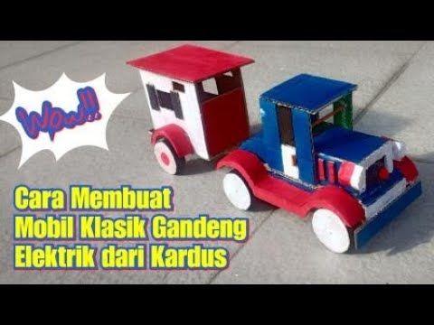 Wow Gampang Cara Membuat Mainan Mobil Klasik Gandeng Elektrik Dai Kardus Prakarya Anak Sekolah Youtube Toy Car Wooden Toy Car Wooden Toys