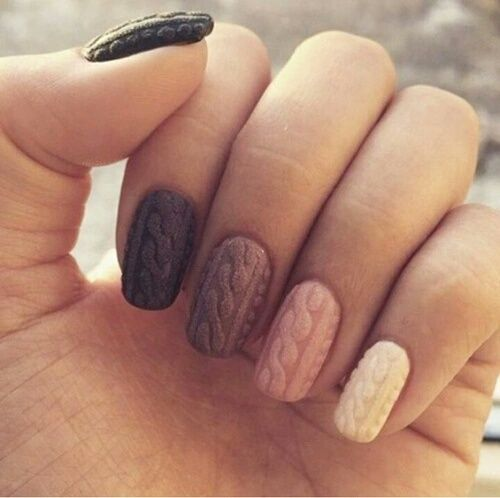 nails, nail art, and sweater image: