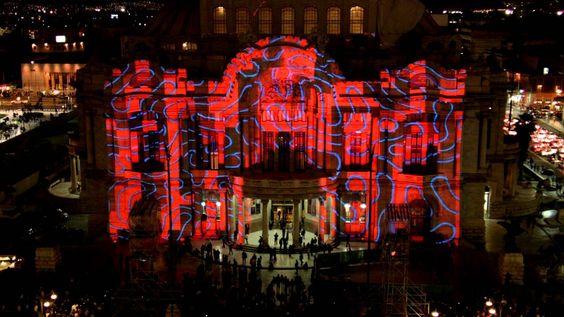 Miguel Chevalier fue uno de los artistas que participó en el Festival Internacional de las Luces México 2013 (Filux), modificando una de las obras arquitectónicas más representativas del país: El Palacio deBellas Artes. La pieza titulada El origen del mundo 2013
