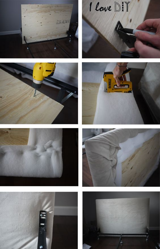 tete de lit diy pinterest t tes de lit fabriquer soi m me fait maison et maison. Black Bedroom Furniture Sets. Home Design Ideas