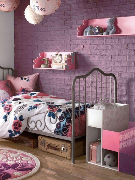 Paars is een mooie kleur voor meisjeskamers!
