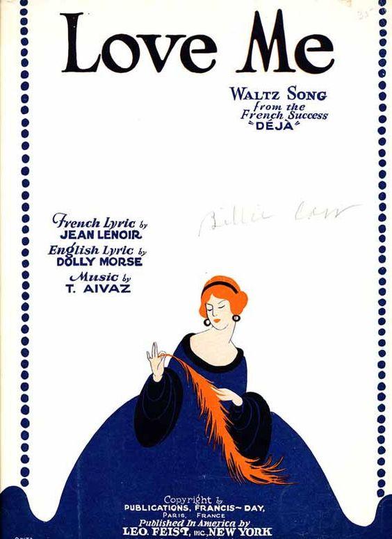 Love Me vintage 1929 sheet music by MisatoCards on Etsy, $8.00