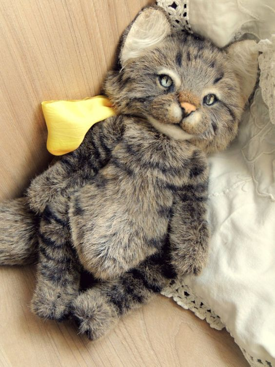 Teddy cat. For your pets. Artist teddy bears. by katerinamakogon: