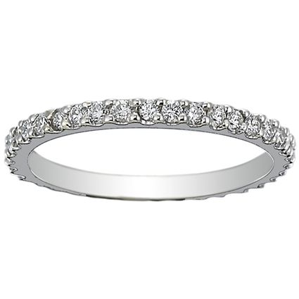 18K White Gold Eternity Petite Shared Prong Diamond Ring (1/2 ct. tw.) from Brilliant Earth