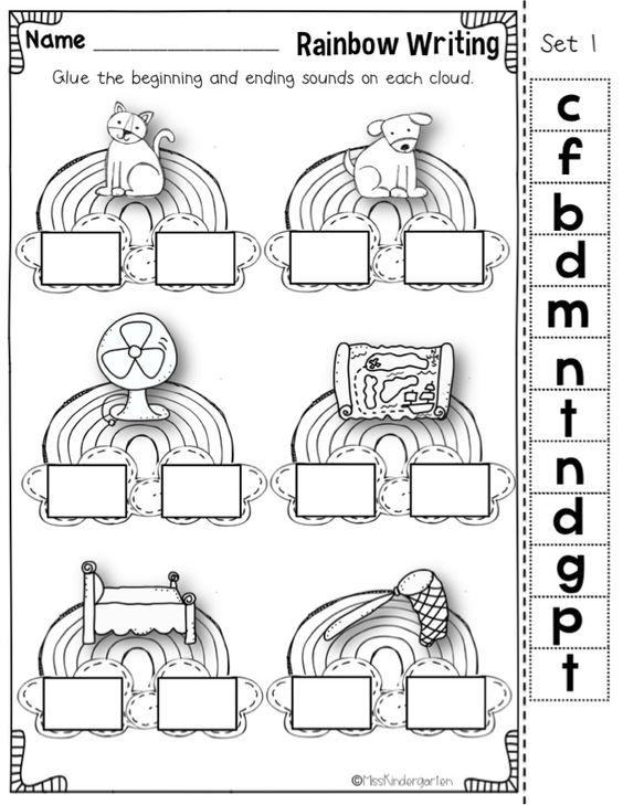 Miss kindergarten, Rainbow writing and Kindergarten on Pinterest
