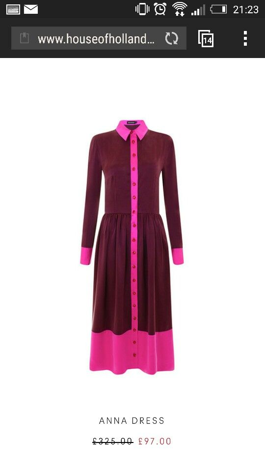 House of Holland Anna pink dress