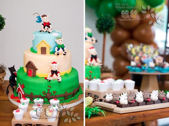 Three Little Pigs Birthday Party Theme via Kara's Party Ideas -www.KarasPartyIdeas.com
