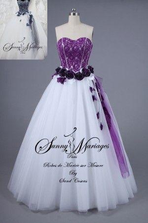 robes de mari e mariage lavande lilas parme prune violet pinterest bustiers. Black Bedroom Furniture Sets. Home Design Ideas