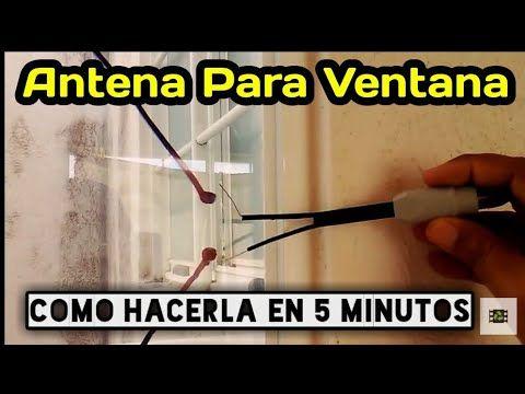 Como Hacer Antena Tv Para Ventana En 5 Minutos Antenas Para Tv