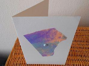 Creasing Pastel - Handmade Mixed Media Greeting Card - Original Fine Art Collage…