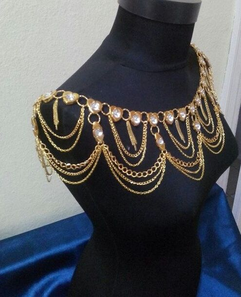 Body Necklace ChainShoulder Chain Body chain by MukoShop on Etsy